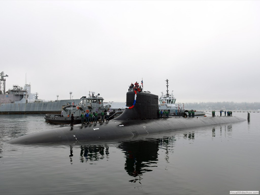 USS Seawolf (SSN-21) returns to homeport at Bremerton, Wash