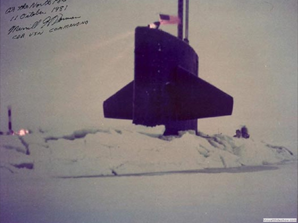USS Silversides (SSN-679) at the North Pole