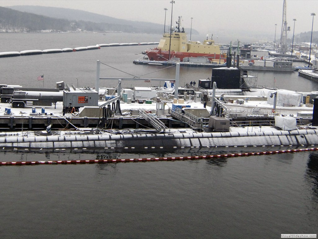 USS Virginia (SSN-774) and USS Connecticut (SSN-22) at Submarine Base New London